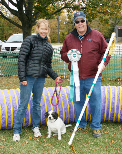 Madra & Marcia earned their C-ATCH agility title